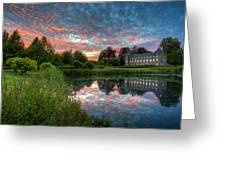 Castle And Pond Greeting Card