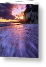 Castle Beach 2 Greeting Card