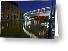 Castle Bridge A By Night Bristol England Greeting Card
