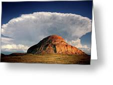 Castle Butte In Big Muddy Valley Of Saskatchewan Greeting Card