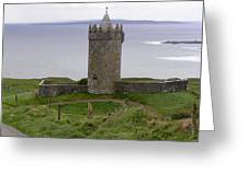 Castle By The Sea In Ireland Greeting Card