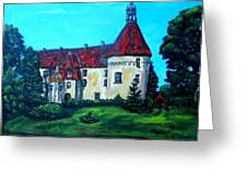 Castle Ciityscape Acrylic Painting Greeting Card