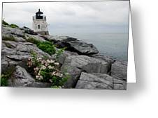 Castle Cliff Lighhouse Greeting Card