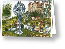 Castle Cross Greeting Card