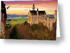 Castle Dawn Greeting Card
