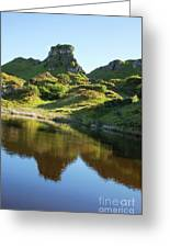 Castle Ewan With Reflection Greeting Card