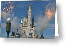 Castle Fireworks Greeting Card