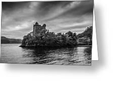 Castle Grey Greeting Card