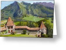 Castle Gruyere Swiss Greeting Card