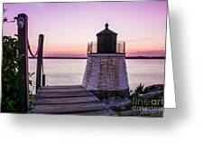 Castle Hill At Sunset Greeting Card