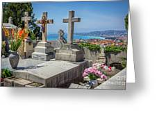 Castle Hill Graves Overlooking Nice, France Greeting Card
