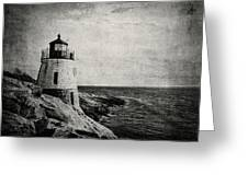 Castle Hill In Black And White Greeting Card