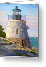 Castle Hill Light Newport Ri Greeting Card