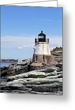 Castle Hill Lighthouse Newport Rhode Island 1 Greeting Card