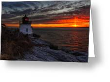 Castle Hill Lighthouse Sunset Greeting Card