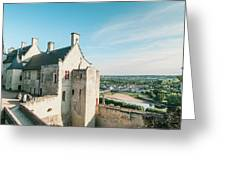 Castle In Chinon Greeting Card
