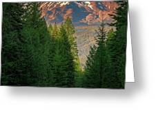 Castle Lake Road View Greeting Card by John Hight