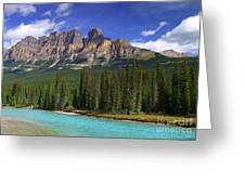 Castle Mountain Banff The Canadian Rockies Greeting Card