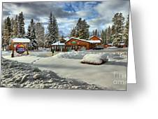 Castle Mountain Chalets Panorama Greeting Card