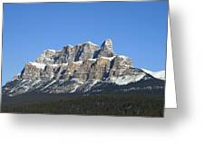 Castle Mountain Winter Greeting Card