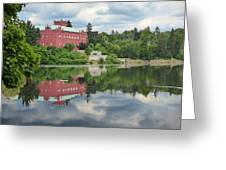 Castle On The Lake Greeting Card