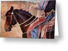 Castle Rock Buckaroo Western Cowboy Painting Greeting Card
