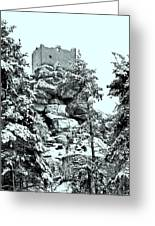 Castle Ruin Flossenbuerg Greeting Card