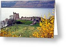 Castle Ruins Scotland Greeting Card