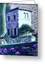 Castle Sestri Levante Greeting Card