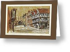 Castle Square Lincoln Greeting Card