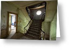 Castle Stairs - Abandoned Building Greeting Card