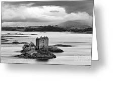 Castle Stalker - D002192bw Greeting Card