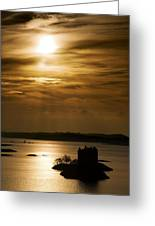 Castle Stalker At Sunset, Loch Laich Greeting Card by John Short
