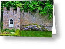 Castle Wall At The Highlands Greeting Card