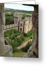 Castle Within A Frame Greeting Card