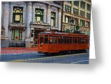 Castro Street Trolley Greeting Card