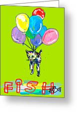 Cat And Fish Friend Greeting Card