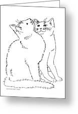 Cat-art-curious Greeting Card