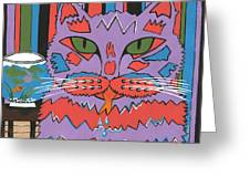 Cat Attack Greeting Card