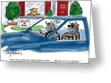 Cat Burglers Greeting Card