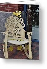 Cat Chair Greeting Card