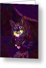 Cat Contemporary Design Brown  Greeting Card