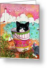 Cat In A Pail Greeting Card