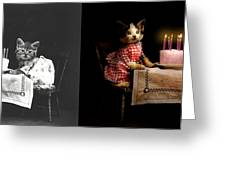 Cat - It's Our Birthday - 1914 - Side By Side Greeting Card