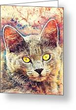Cat Kiara Greeting Card