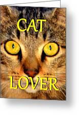 Cat Lover Spca Greeting Card