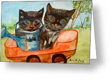 Cat Mischief Greeting Card