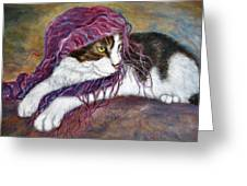 Cat Painting  Charlie The Pirate Greeting Card
