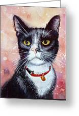 Cat Painting Cat Portrait Watercolor Cat Cat Art Cat Lover Gift Animal Portrait Watercolor Original Greeting Card