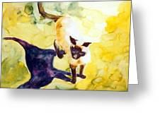 Cat Shadows Greeting Card